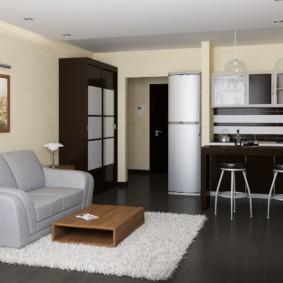 Дизайн гостиной с раскладным диваном