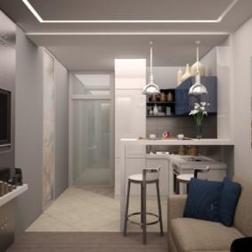 Зонирование комнаты потолочным покрытием