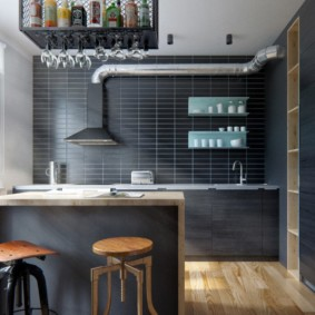 Дизайн кухни с открытой вытяжкой