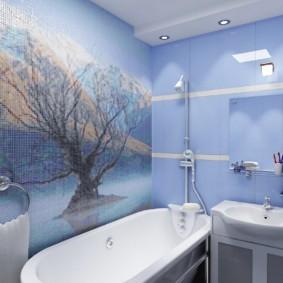 Керамическое панно в интерьере ванной