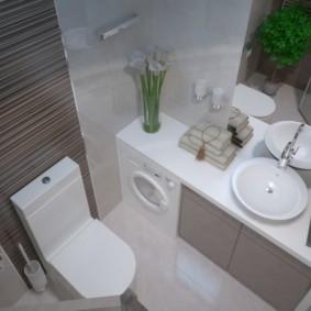 Дизайн совмещенной ванной в квартире панельного дома