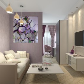 Подвесная мебель в маленькой гостиной