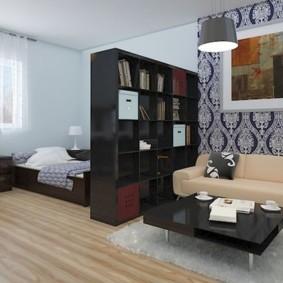 Корпусная мебель в роли разделителя пространства