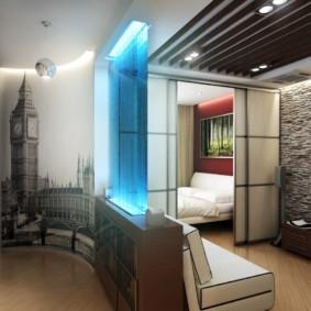 Дизайн спальни-гостиной в смешанном стиле