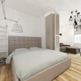 Спальное место с дверью-гармошкой