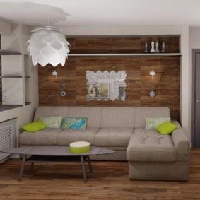 Дерево в интерьере современной квартиры