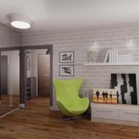 Кирпичная стена в квартире панельного дома