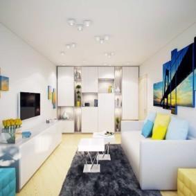 Декорирование интерьера квартиры модульными картинами