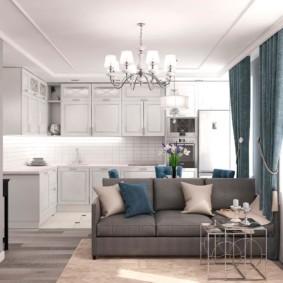 Светлая квартира в классическом стиле