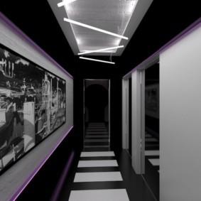 Дизайн прихожей с многоуровневым потолком