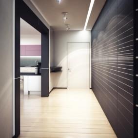Освещение входной зоны в квартире-студии