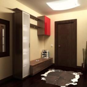 Навесной шкаф с красным фасадом