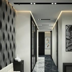 Дизайн коридора в серых тонах