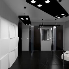 Черный пол из керамической плитки