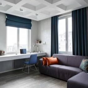 Угловой диван в детской комнате