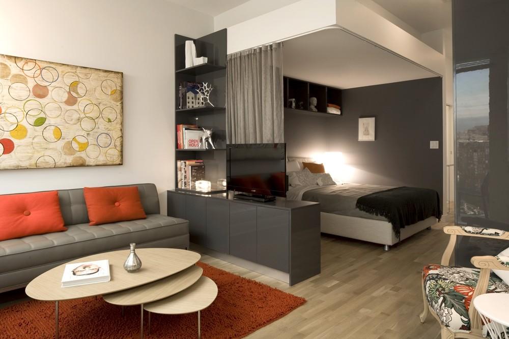 фото спальни гостиной 16 кв