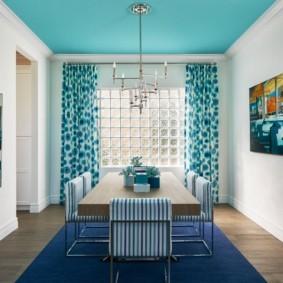 Дизайн столовой зоны кухни-гостиной