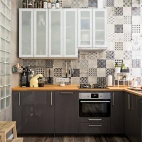 Угловой гарнитур в современной квартире