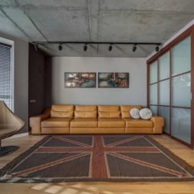 Дизайн гостиной в стиле лофт