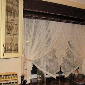 Римская штора черного цвета