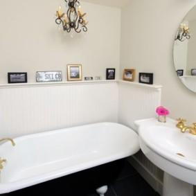 Декор ванной в деревенском стиле