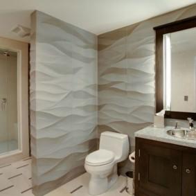 3D панели в интерьере ванной комнаты