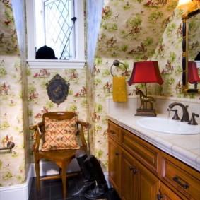 Уютная ванная в стиле прованс