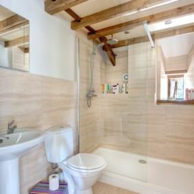 Ламинированные панели в дизайне ванной
