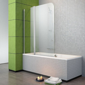 Млкая плитка в интерьере ванной