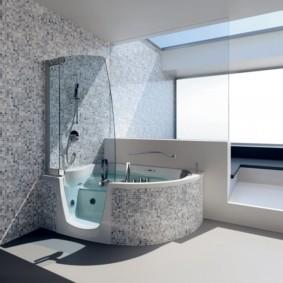 Керамическая мозаика в отделке ванной