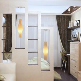 гостиная спальня площадью 20 кв м идеи фото