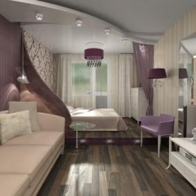 гостиная спальня площадью 20 кв м идеи интерьер