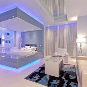 гостиная спальня площадью 20 кв м идеи интерьера
