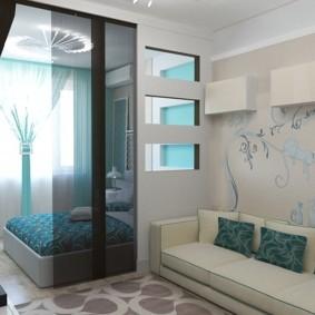 гостиная спальня площадью 20 кв м интерьер фото