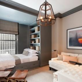 гостиная спальня площадью 20 кв м декор