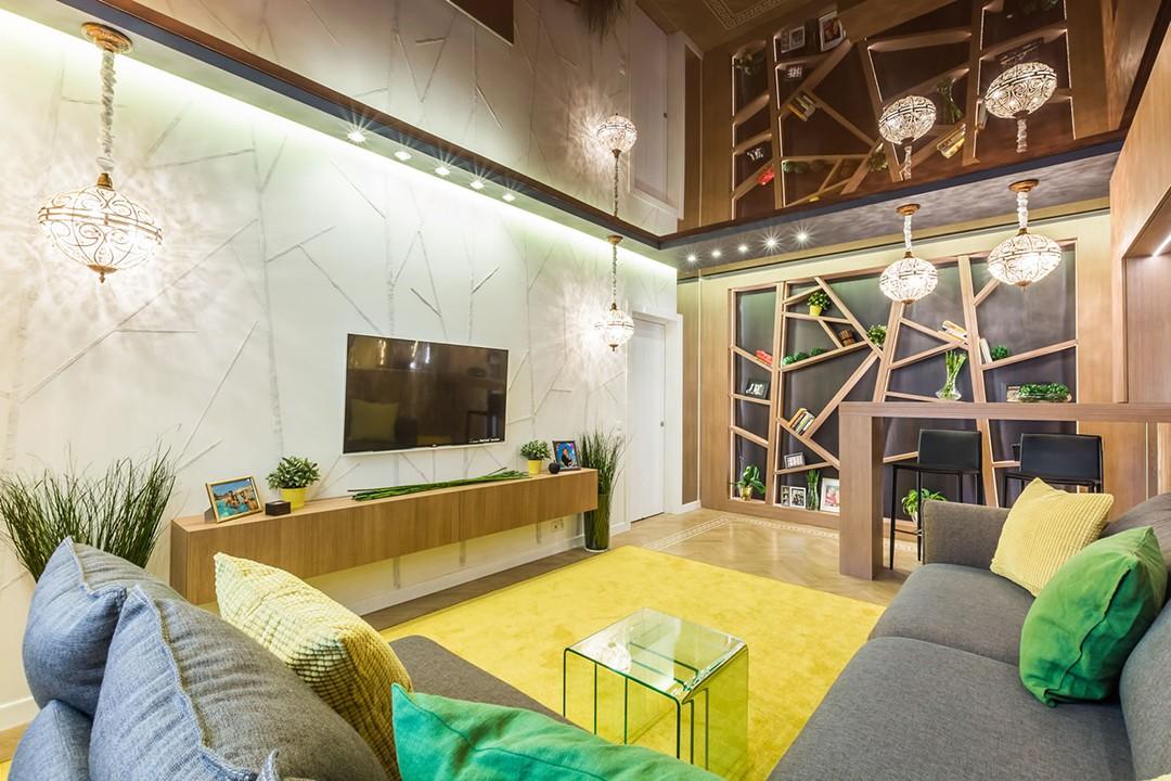 гостиная спальня площадью 20 кв м декор фото