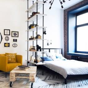 гостиная спальня площадью 20 кв м декор идеи
