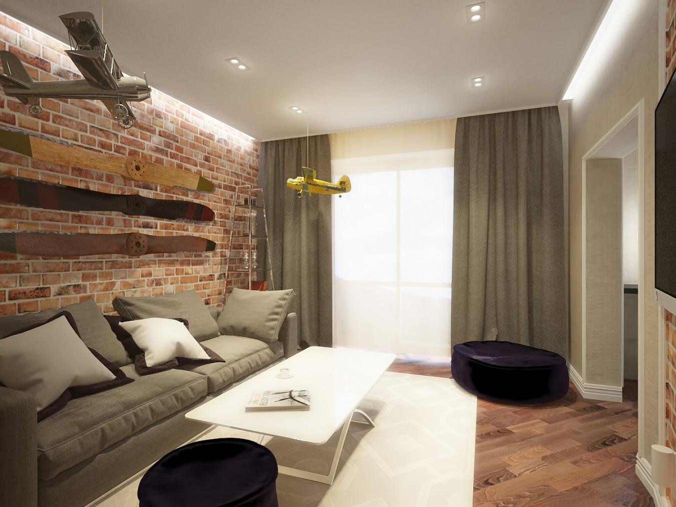 гостиная спальня площадью 20 кв м дизайн идеи