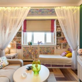 гостиная спальня площадью 20 кв м фото декор