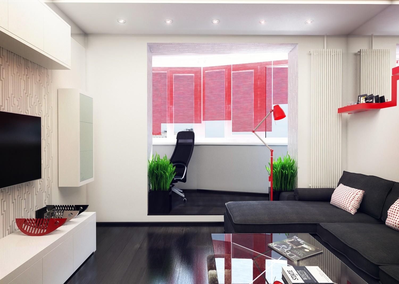 гостиная спальня площадью 20 кв м фото декора