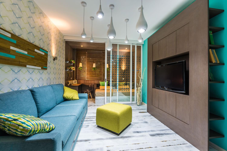 гостиная спальня площадью 20 кв м фото оформление