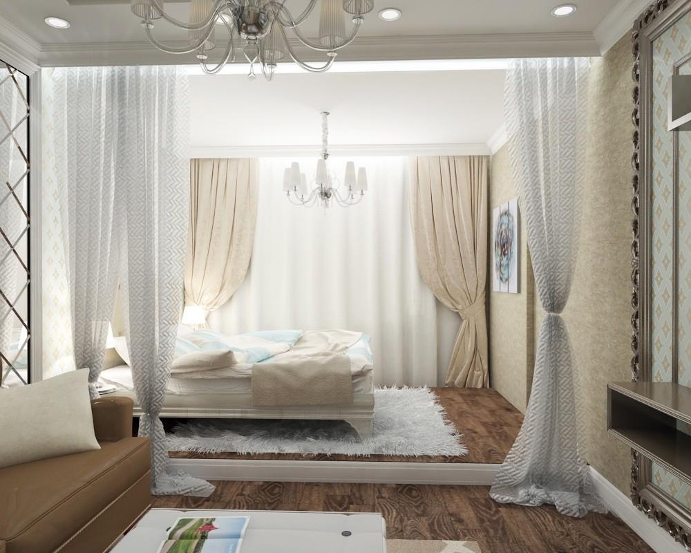сайте собраны варианты дизайна спальня гостиная фото решили
