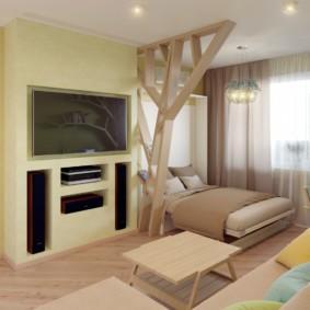 гостиная спальня площадью 20 кв м идеи дизайн