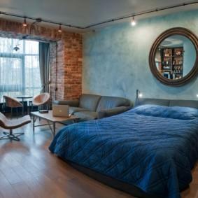 гостиная спальня площадью 20 кв м идеи оформление