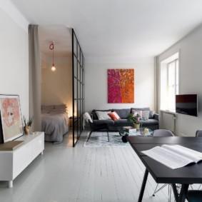 гостиная спальня площадью 20 кв м оформление фото