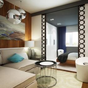 гостиная спальня площадью 20 кв м варианты фото