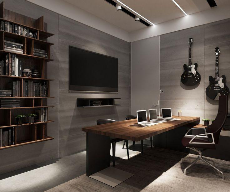 Дизайн рабочего кабинета холостого мужчины