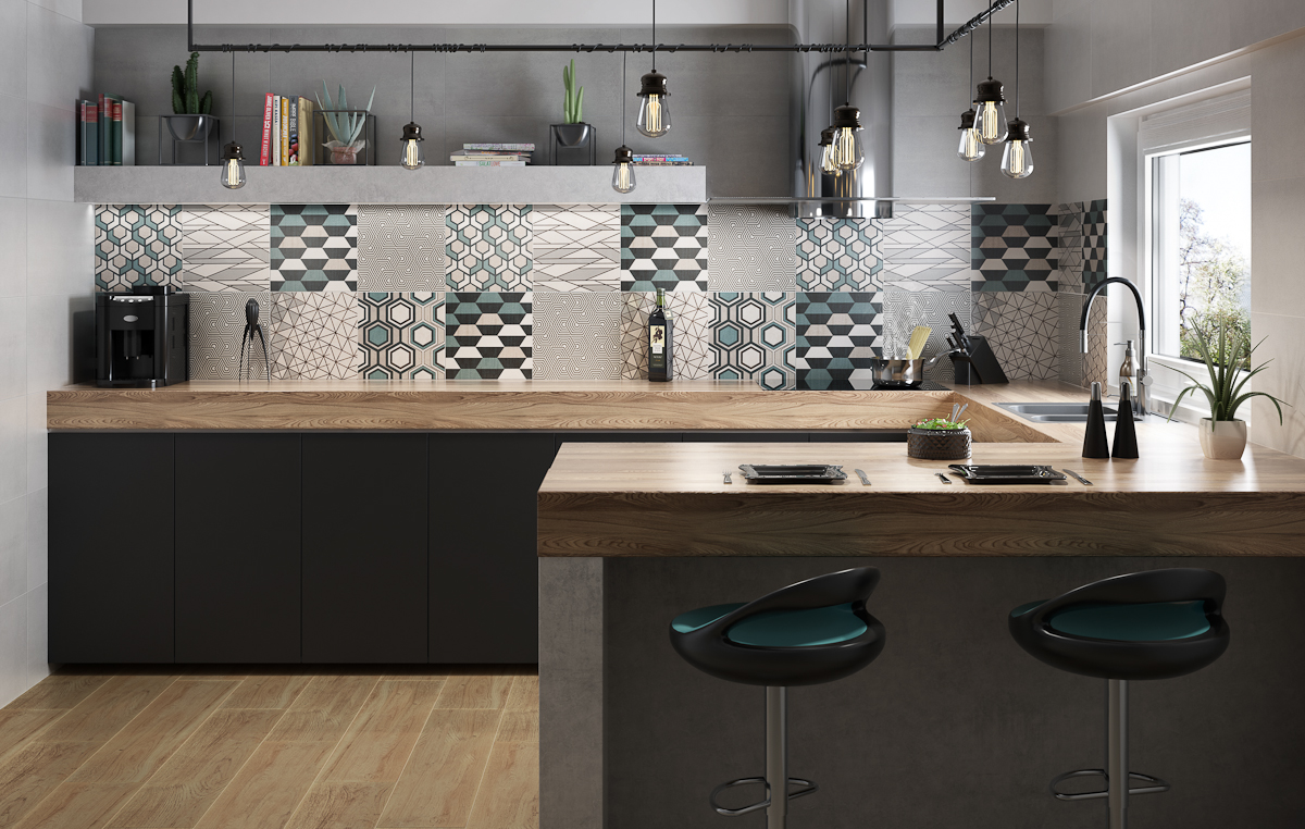 кафель на кухне дизайн