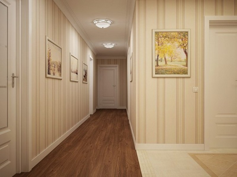 как выбрать обои для узкого коридора