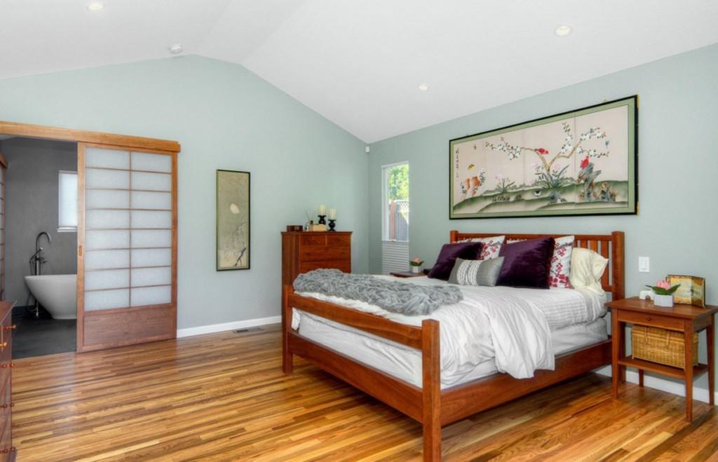 Декор картиной спальни в японском стиле